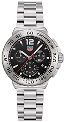 TAG Heuer Men's CAU1112.BA0858 Formula 1 Stainless Steel Bracelet Watch with Black Dial