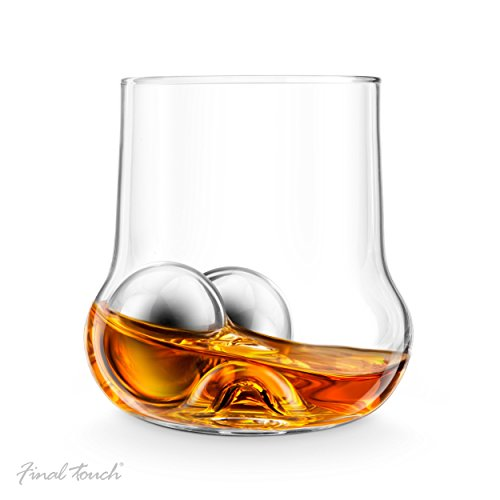 final-touch-rock-roller-whiskey-glass-stainless-steel-ice-chilling-balls-and-tong-drinking-gift-set