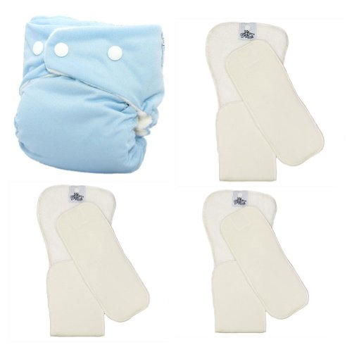 Softbums Echo Shell With Snaps Plus 3 Pack Pods (Choose Large Or Super - Bamboo Or Dry Touch) (Super Os Dry Touch (3 Pack), Snowcone)