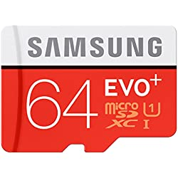 Samsung 64GB EVO Plus MicroSDXC UHS-I Class 10 Memory Card with SD Adapter
