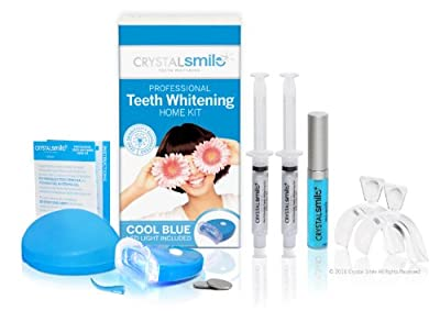 Crystal Smile Advanced Deluxe Teeth Whitening Home Kit. Professional High Grade Peroxide Gel - All Products made in the U.S.A.