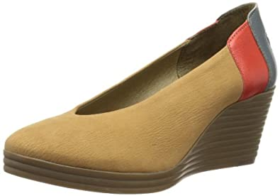 Fly London Women's Bett Court Shoes P142747008 Tan/Devil Red/Indigo 3 UK, 36 EU