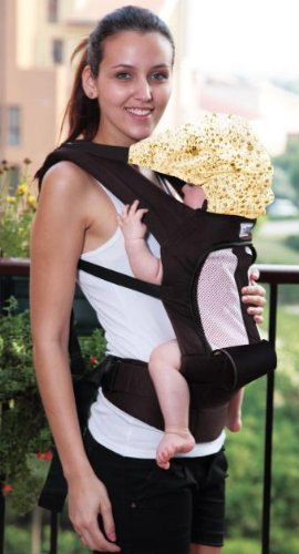 Soho Air Flow Designs Baby Carrier With Head Cover. 2 Colors (Brown) front-629455