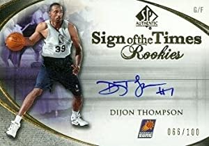 Dijon Thompson Autographed Hand Signed Basketball Card (Phoenix Suns) 2006 Upper Deck... by Hall of Fame Memorabilia