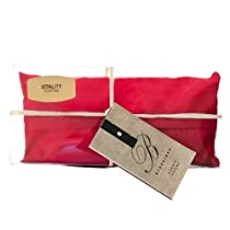 Courage- Root Chakra Pillow - Red Yoga Silk Eye Pillow | Cinnamon, Cloves, Black Pepper