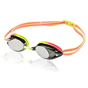 Speedo Vanquisher 2.0 Mirrorred Swim Goggle, One Size, Citrus Green