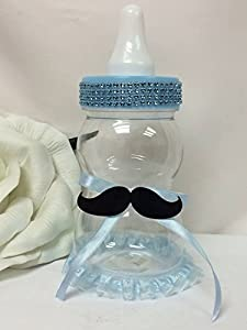 com 13 jumbo baby mustache bottle filable baby shower bank plastic