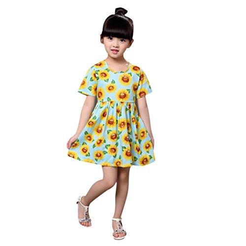 Voberry® Baby Kids Girls Summer Dress Sunflower Sundress