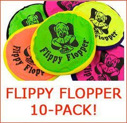 Flippy Flopper Flying Disc for Dogs (10-Pack, Large)