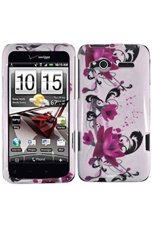 LG P970 Optimus Black / LS855 Marquee Graphic Case - Red Flower on White (Package include a HandHelditems Sketch Stylus Pen)