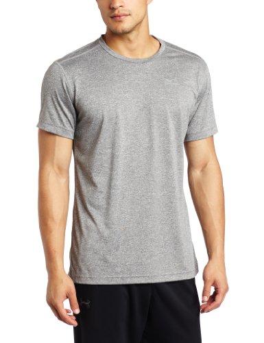 Mizuno Men's Inspire Blank Tee, Grey, Large