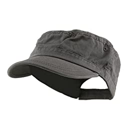 MG Enzyme Washed Cotton Twill Cap (Grey)