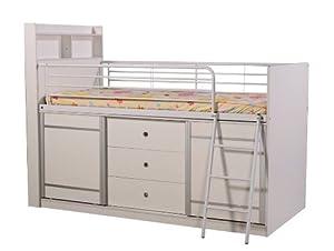 Lincoln lit mezzanine avec rangement cuisine maison - Lit mezzanine rangement ...