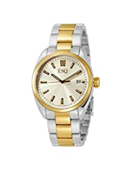 ESQ by Movado Men's 7301360 Sport Classic Two-Tone-Stainless-Steel Yellow Round Dial Watch