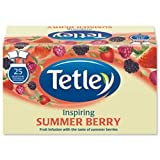 Brand New. Tetley Tea Bags Summer Berry Individually Wrapped Ref A06684 [Pack 25]