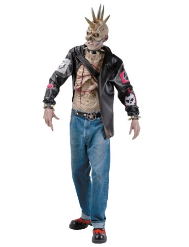 Punk Zombie Costume for Men. Ideal for retro 80s or Halloween dress-up