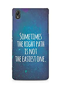 AMEZ the right path is not easy Back Cover For Sony Xperia Z2