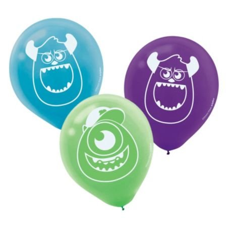 "Amscan BB111198 Monsters University 6"" Latex Balloons -6 pack - 1"