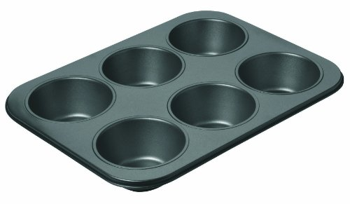 Chicago Metallic 16669 Non-Stick 6-Cup Giant Muffin Pan