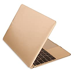 Macbook 12 Retina Case,ACCUCASE(TM) 12-inch Macbook Retina case,Ultra Slim Rubberized Hard Case Light Weight Matte Cover for MacBook 12-inch (2015) Gold