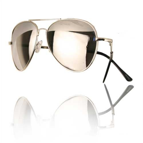 Premium Spring Silver Mirrored Aviator Sunglasses
