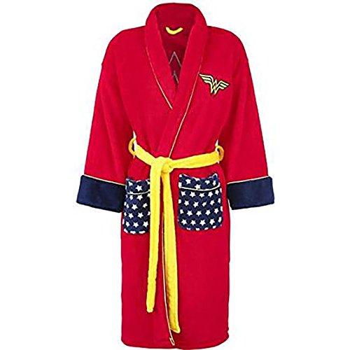 Ufficialmente le signore con licenza DC Comics Retro chiedo Vestaglia donna pile rosso