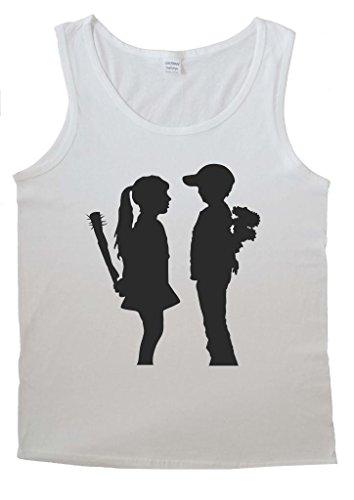 Banksy Girl Boy Relationship Men Women Cute Dangerous Men Vest Tank Top T-Shirt -Small