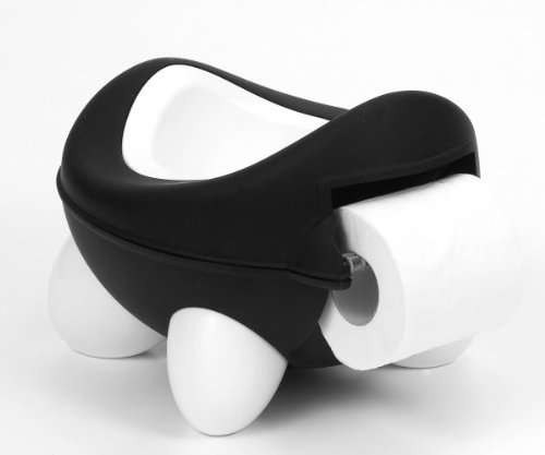 Kids Kit Baby Bug Potty Black & White - Built In Toilet Roll Holder