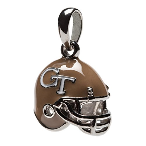 Georgia Tech Yellow Jackets Dangle Football Helmet Bead Charm