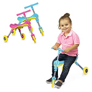 Fly Bike® Foldable Indoor/Outdoor Toddlers Glide Tricycle - No Assembly Required by Chromo Inc