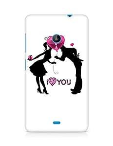 Amez designer printed 3d premium high quality back case cover for Microsoft Lumia 535 (I Love You)