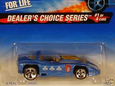 Mattel Hot Wheels 1997 1:64 Scale Dealers Choice Series Blue Silhouette II Die Cast Car 1/4 - 1