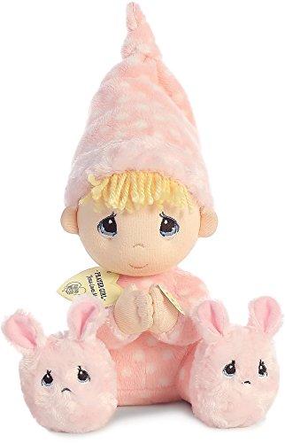 """Aurora AW15719 Precious Moments Prayer Girl """"Now I Lay Me Down To Sleep"""", Medium, Pink/White"""