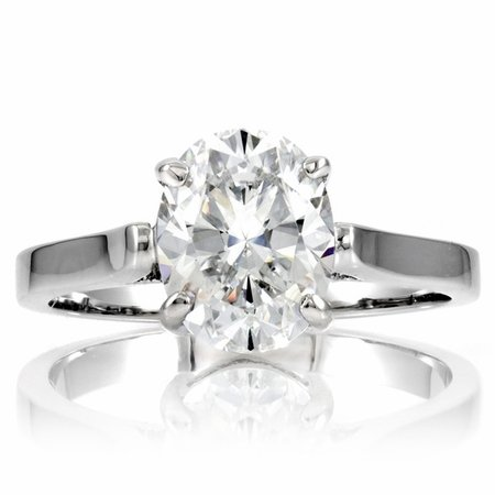 Sonia's Signity CZ Cubic Zirconia Engagement Ring - 2 CT Oval Cut