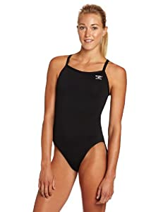 The Finals Women's Endurotech Stretch Butterfly Back Swimsuit, Black, Size 26