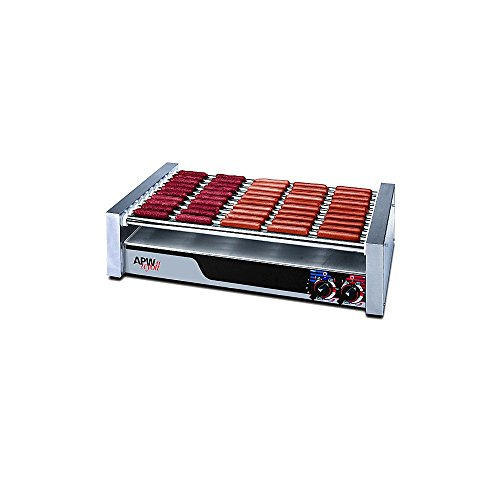 APW Wyott HR-50 HotRod Flat Roller Grill for 850 Hot Dogs