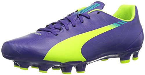 Puma - Puma, scarpe da calcio  da unisex adulto, Viola (Viola (prism violet-fluro yellow-scuba blue 01)), 42