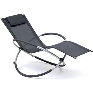 Rocking patio sun lounger chair amazon co uk garden amp outdoors