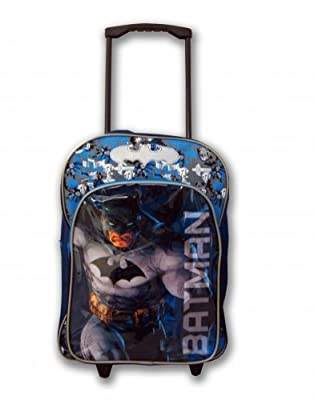 Character Batman PVC Front Wheeled Bag from Linen Ideas Ltd