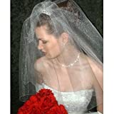 2T Glimmer Shimming Elbow Wedding Bridal Satin Edge Veil ~ Shop Ginger Wedding