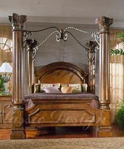 Bordeaux king size canopy bed home kitchen for North shore california king canopy bedroom set
