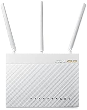 Asus RT-AC68U AC1900 Diamond Dual-Band Power WLAN Router (802.11 a/b/g/n/ac, Gigabit LAN/WAN, USB 3.0, Print FTP UPnP VPN Server, IPv6, 8x SSID, AiRadar) blanc