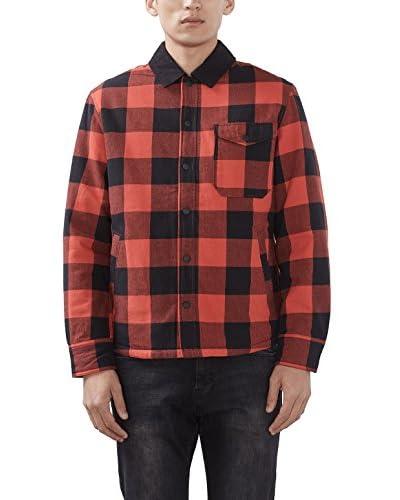 ESPRIT Camisa Hombre 106ee2f018 – Oversize Rojo