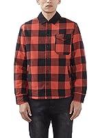 ESPRIT Camisa Hombre 106ee2f018 - Oversize (Rojo)