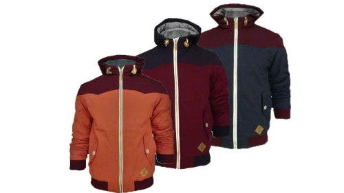 Mens Soul Star Axbridge Hooded Padded Jacket (Medium - 38