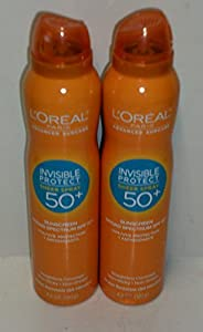 (2 Pack)-L'Oreal Paris Advanced Suncare Sunscreen SPF 50+ Sheer Spray, 4.2 Oz. each