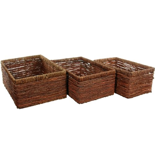 Oriental Furniture Hand Woven Space Saver Basket Set front-458824