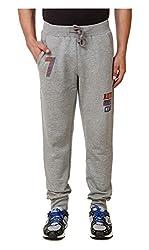 Spunk Men Cotton Track Pant (1000269061001_Grey_S)