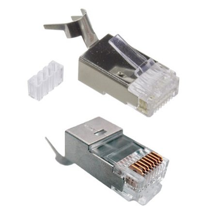 RiteAV - 23 AWG Shielded CAT 6 Solid Terminating Crimp Ends Designed for Direct Burial Cable (10 Pack) (Direct Ethernet Connector compare prices)