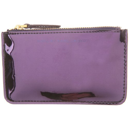 Marc By Marc Jacobs Marc Jacobs Tecnho Key Pouch in Purple Holographic